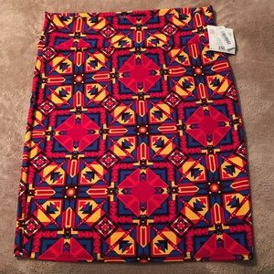 LuLaRoe Dresses & Skirts - LuLaRoe Cassie Stretch Pencil Skirt Tribal Boho 2X