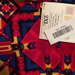 LuLaRoe Skirts - LuLaRoe Cassie Stretch Pencil Skirt Tribal Boho 2X