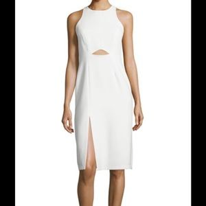 Halston Heritage Dresses & Skirts - Halston Heritage Sleeveless w. Waist Cutout Dress