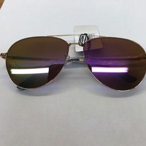 Accessories - Rose Tint Aviator Mirrored Sunglasses