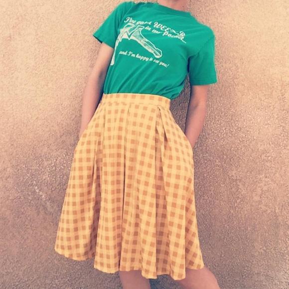 83b3a47bf LuLaRoe Dresses & Skirts - LuLaRoe yellow checkered Madison midi skirt