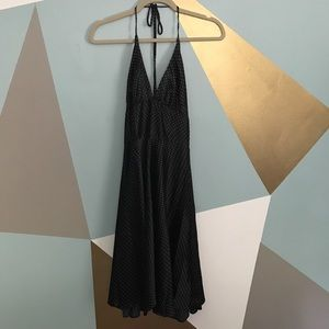 Dresses & Skirts - Silky polka dot black halter dress