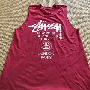 Stussy Tops - Stussy world tour muscle tee