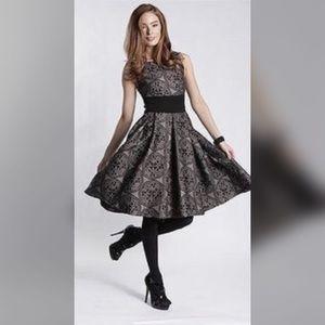 Eva Franco Dresses & Skirts - EVA FRANCO VIOLA STONE BLACK PLEATED A-LINE DRESS