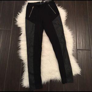 Divided Pants - Women's faux leather pants. Faux leather pants.