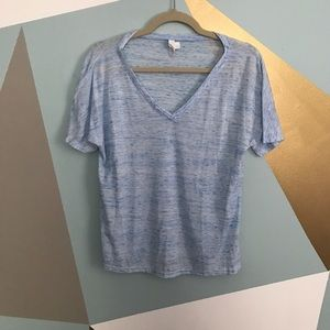 Tops - B-neck blue t shirt