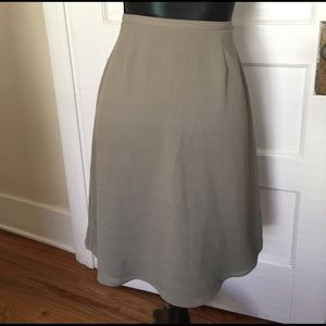 J. Crew Greenish Grey A-line Skirt