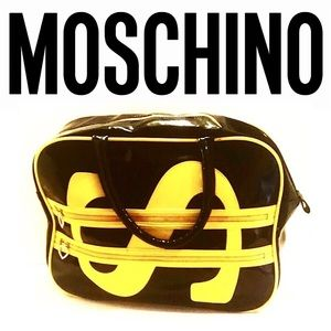 Authentic Moschino Patent Leather Dollar Sign Bag