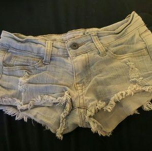 Vintage Havana light blue cut off jean shorts