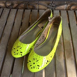 Gap Neon Yellow Laser Cut Flats