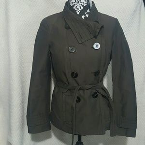 Zara Short Trench Coat Jacket Size M