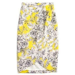 Madewell Silk Floral Skirt