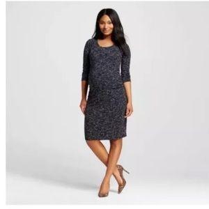 Liz Lange Ebony Space Dye Maternity Dress Med NWT