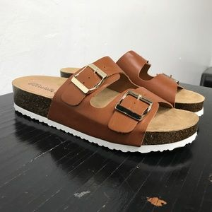 Tan sandals