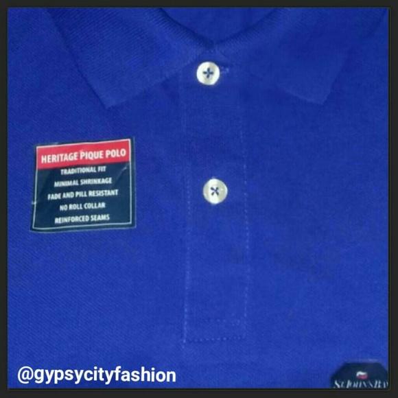 St john 39 s bay men 39 s cobalt blue polo shirt nwt from for Cobalt blue polo shirt