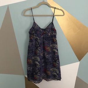 "American Eagle Outfitters Dresses & Skirts - Purple floral ""crinkle"" texture dress"