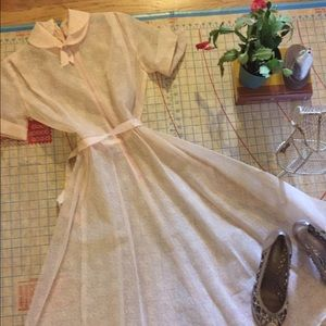 Dresses & Skirts - 1950s flocked organza party dress size 2/4