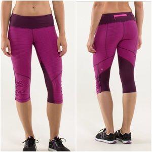 lululemon athletica Pants - ⚡️Like NEW!!  Run For Your Life Crop Hyper Stripe