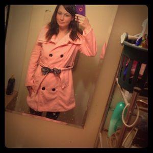 finejo Jackets & Blazers - FINAL MARKDOWN!!! Light pink coat with two belts