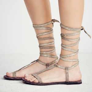 Free People Shoes - Free People Dahlia Gladiator LaceUp Sandals
