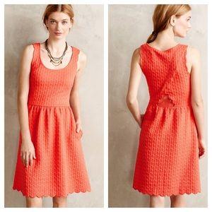 Anthropologie / Maeve caye scalloped dress