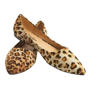 Tory K  Shoes - Tory K Women Leopard Flats, b-1350, Brown
