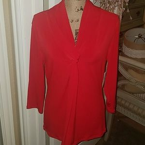 Grace Tops - GRACE RED TIE Knotted TOP