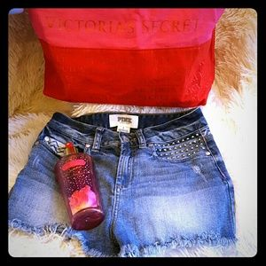 PINK Victoria's Secret Pants - *Pink* VICTORIA SECRET jean shorts size 2