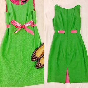 Etcetera Dresses & Skirts - Etcetera Green dress with pink bow