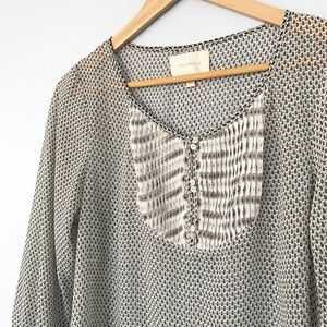 Skies Are Blue Stitch Fix Sheer Paisley Blouse