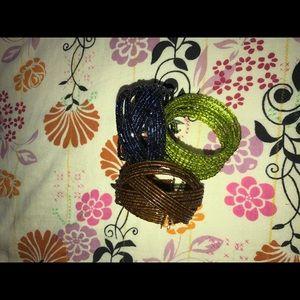 Jewelry - ✳️Beaded Bracelet set of 3.
