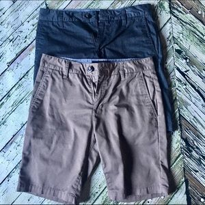 Tilly's blue crown chino shorts (2)
