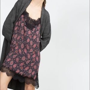 Zara Dresses - Zara Woman paisley lace slip dress size Small
