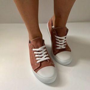 Shoes - 1 left!! Mauve Suede Sneaker