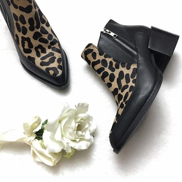 Design Lab Druria Black Leopard Calf