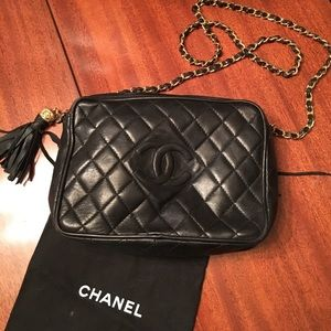 b1a9d7442a CHANEL Bags | Classic Vintage Black Quilted Leather Purse | Poshmark