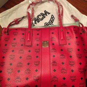 MCM Handbags - NWT MCM Monogram Red & Black Tote W Matching Purse