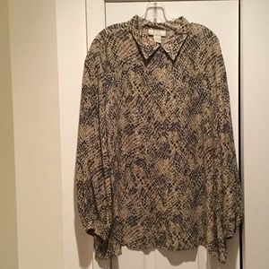Nexx Tops - Ladies neutral colors printed blouse 1x worn once