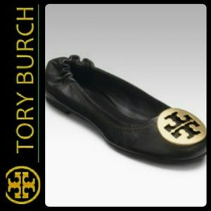 Tory Burch Shoes - Tory Burch Leather Reva Ballet Flats