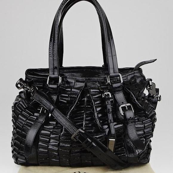 18436c44d2 Burberry Bags   Prorsum Lowry Black Patent Leather Ribbon   Poshmark