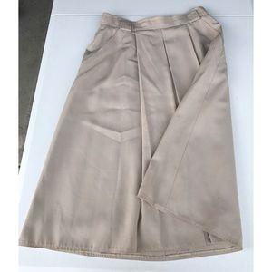 Basler Dresses & Skirts - Basler Tan Double Pleated Skirt