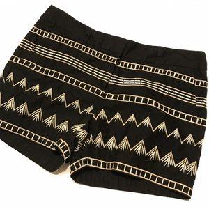 LOFT Factory Original Blk Embroidered Shorts