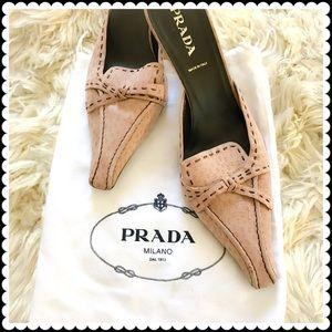 Prada Shoes - Prada dusty pink nuback slide