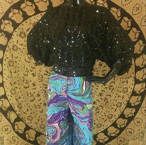 VINTAGE Sequin Glam Blouse Top