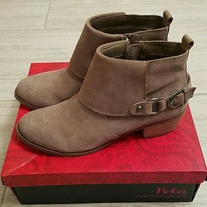 Reba Shoes - Reba Suede Booties-used only once!