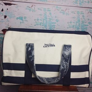 Jean Paul Gaultier Canvas Duffle Tote Luggage Bag