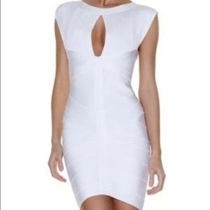 Herve Leger Dresses & Skirts - Herve Leger white keyhole bandage dress.