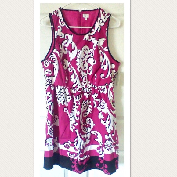 bb32145724ce Crown & Ivy Dresses | 14p Crown Ivy Fuchsia Pink Scroll Print Dress ...