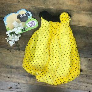 Baby Essentials Other - 6 months Yellow & Black Baby Jumpsuit 🎀
