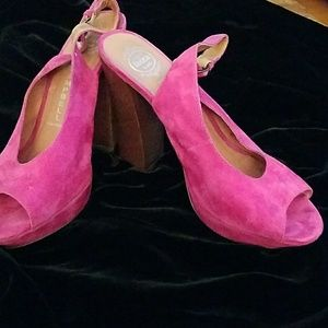 Jeffrey Campbell Pink Suede Shoes